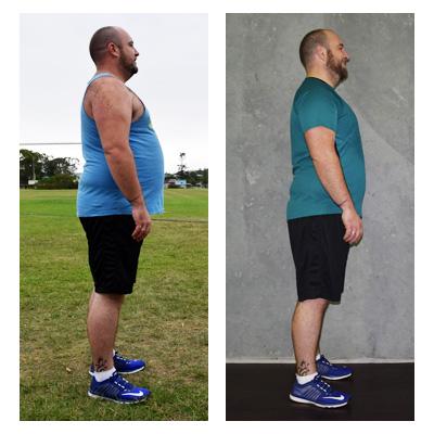 Aaron lost 16 kilos