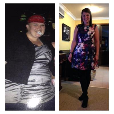 Chrissie's 40 kilos down