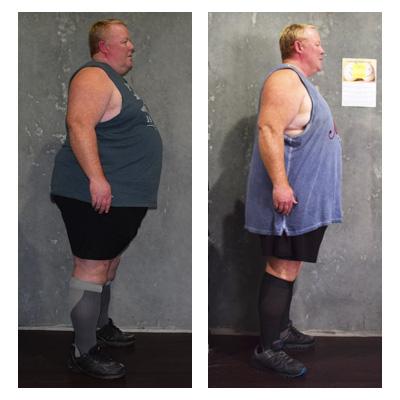 Matt lost 45 kilos