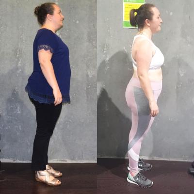 Nikki lost 16 kilos