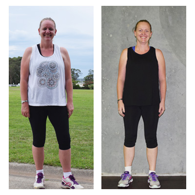 Stacey 16 kilos down
