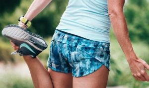 Women stretching post workout