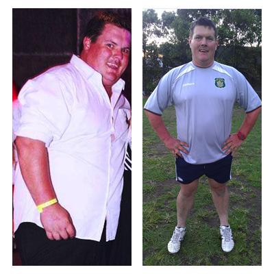 Stu lost 28 kilos