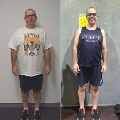 Daniel lost 15 kilos