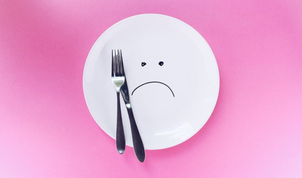 plate with smiley face