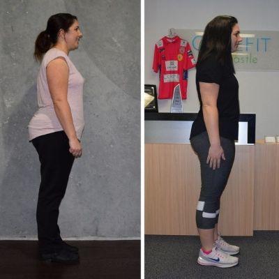 Nicole lost 10 kilos