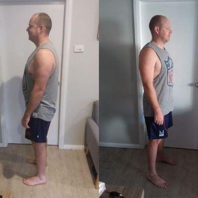 Chris' down 6 kilos